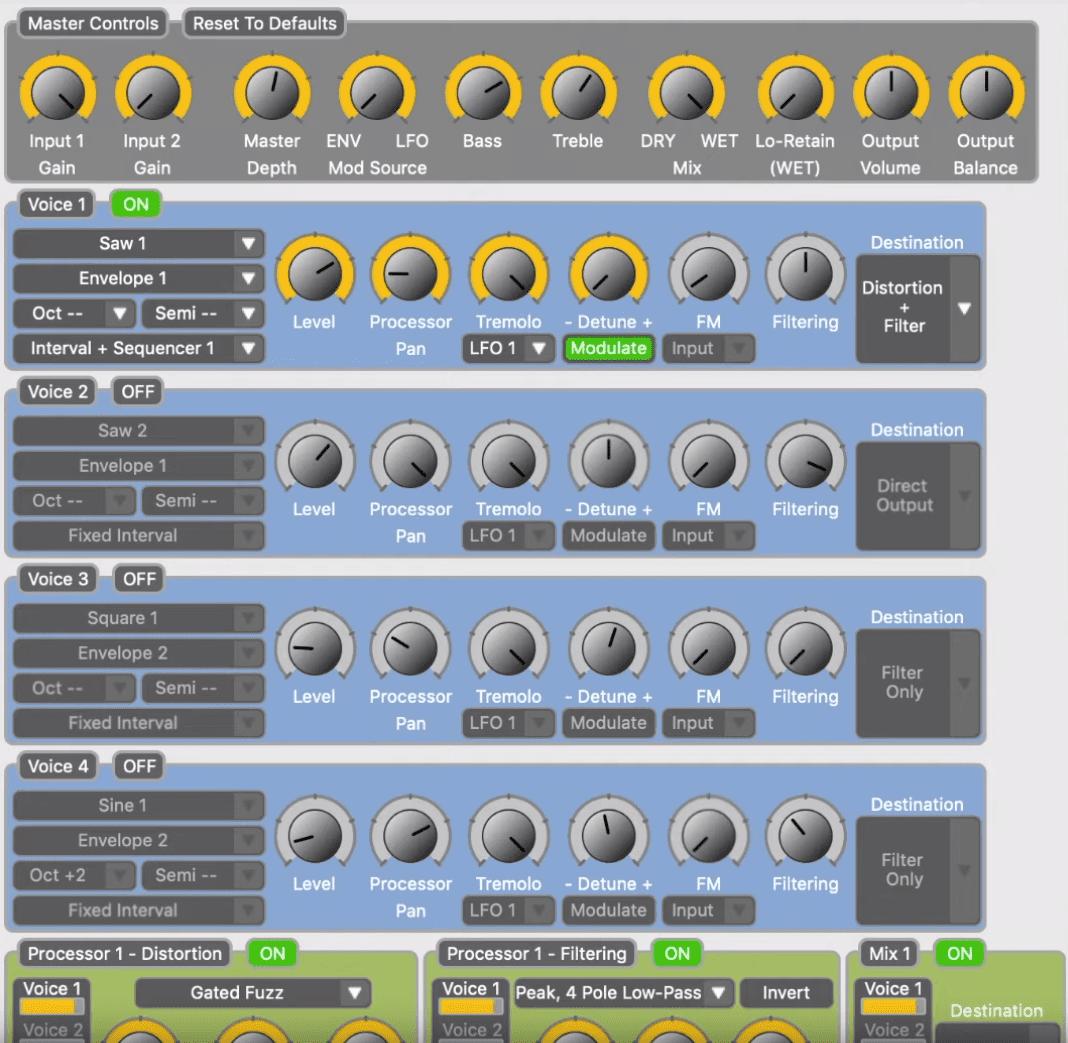 Source Audio C4 Synth Effekt Pedal Neuro Editor C4 Synth Effekt Pedal Neuro Editor