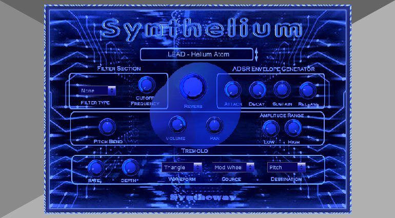 Syntheway Synthelium - ein cooler blauer Software Synthesizer