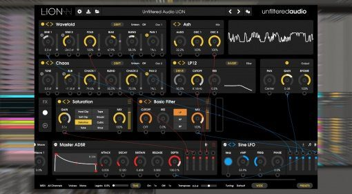 Unfiltered Audio Lion - modularer Software Synthesizer nach BYOME Art