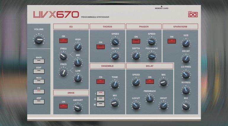 UVI UVX670 - die virtuelle Wiedergeburt der polyphonen AKAI VX600 und AX73 Synthesizers