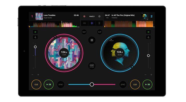 Pioneer WeDJ Android mit DDJ-200 Layout