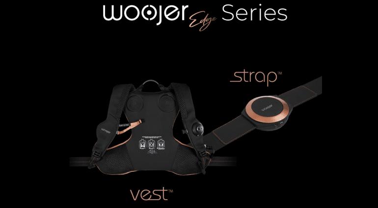 Woojer Edge Series Vest Bassrucksack und Strap Bassgürtel