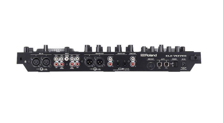 Roland DJ-707M Backpanel