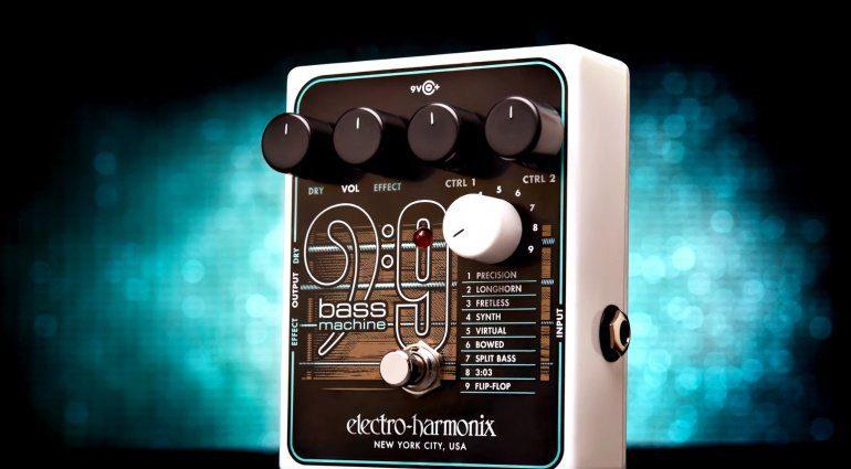 Electro Harmonix EHX Bass9 Bass Machine Effekt Pedal Front