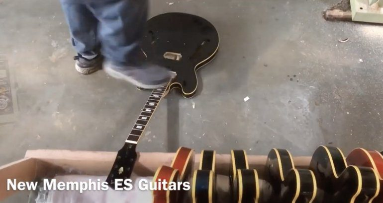 ES-Guitar-getting-stomped-on