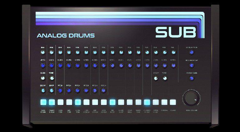 Kostenlos: Sampleson Sub ist ein virtuell analoger Drum Synthesizer