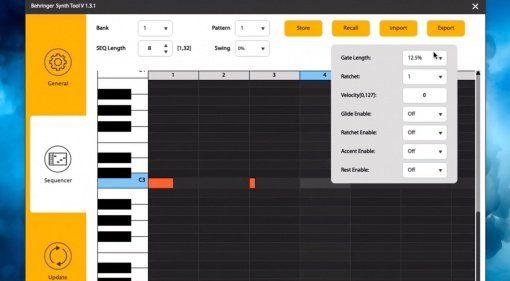 Behringer Synth Tool - eine Software zum Editieren der Synthesizer