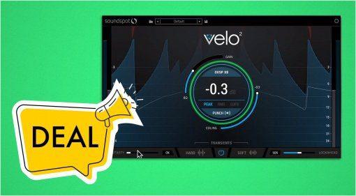 Deal: Brickwall Limiter Velo2 von SoundSpot mit 93 Prozent Rabatt!