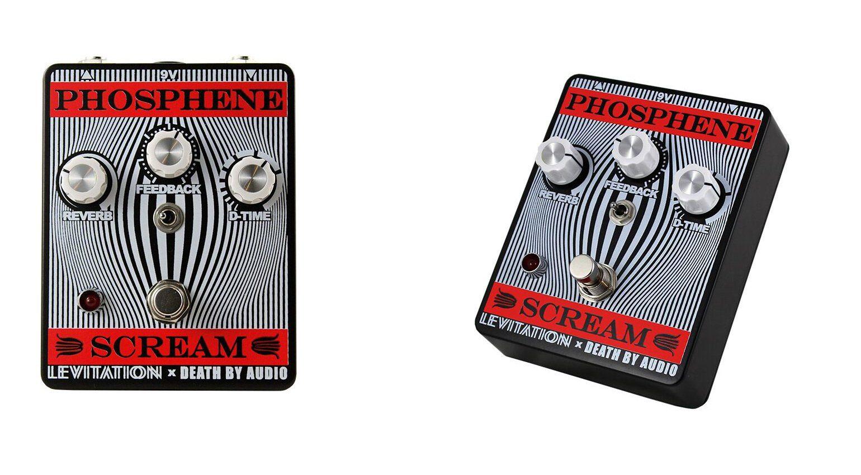 Death By Audio Phosphene Scream Pedal Effekt REverb Pedal Front Slant