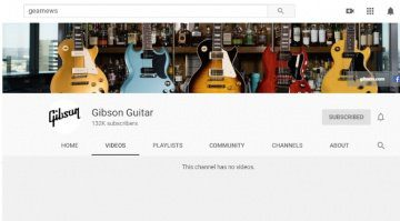 Gibson Youtube Kanal Videos geloescht