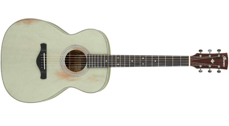 Ibanez Artwood Vintage AVC11MH Surf Green Akustik Gitarre Front