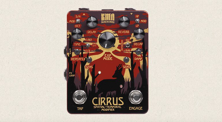 KMA Audio Machines Cirrus Effekt Pedal Reverb Delay
