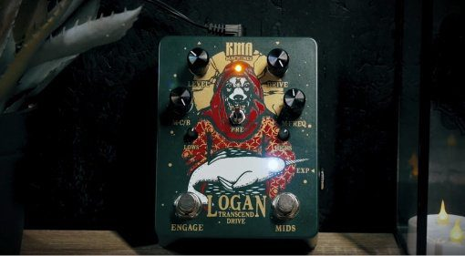 KMA Audio Machines Logan Overdrive Pedal Front Jam