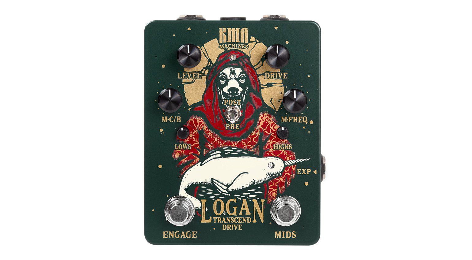 KMA Audio Machines Logan Overdrive Pedal Front