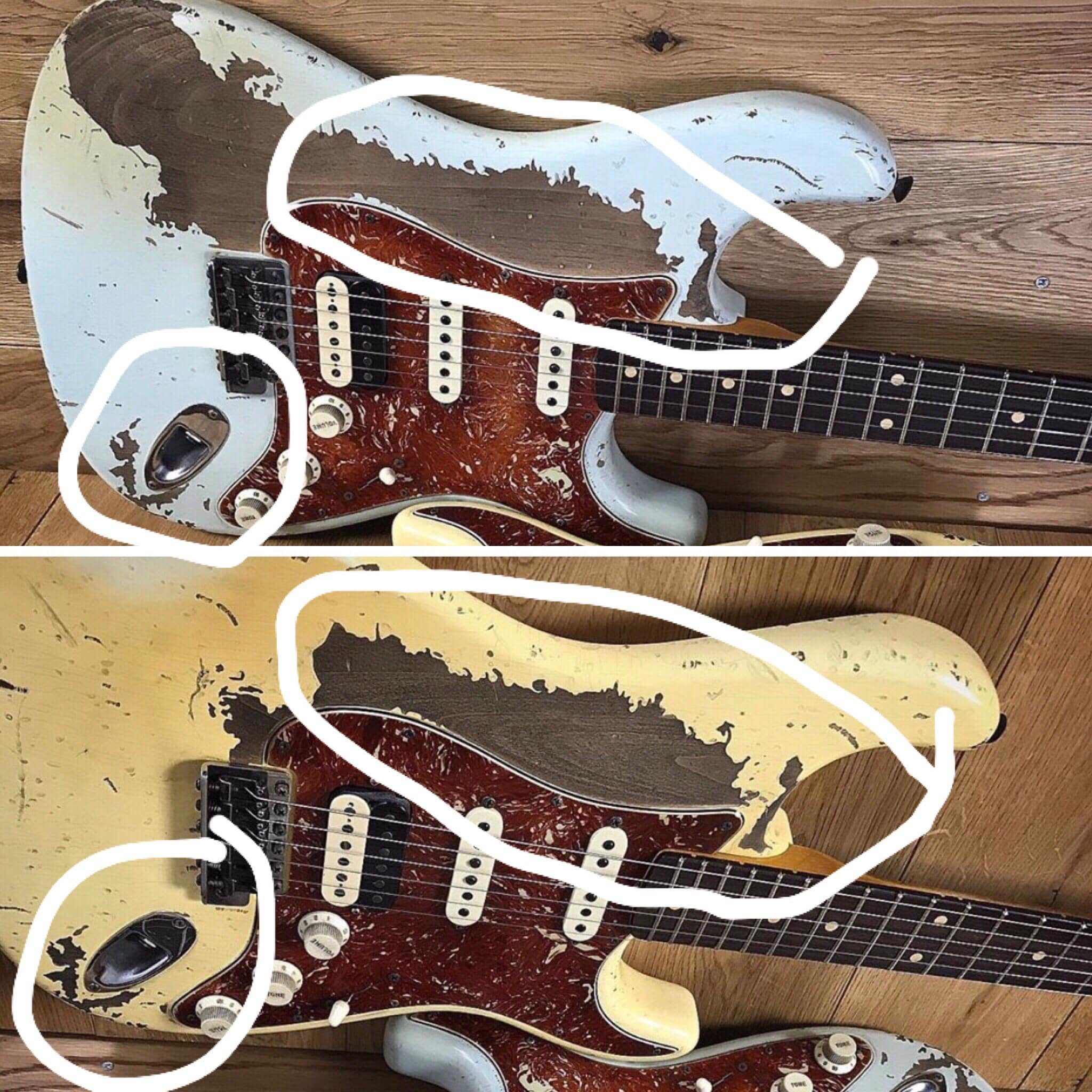 Poopot-Fender-relic-Stratocaster-comparison