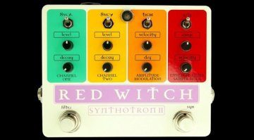 Red Witch Synthotron II analogue guitar synthesiser-pedal fx front