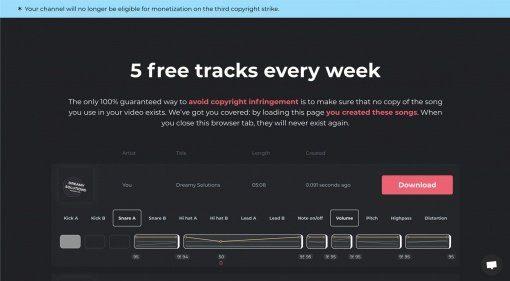 Strikefree Music generiert lizenzfreie Beats