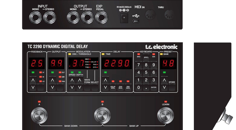 TC Electronic TC 2290 Dynamic Digital Delay Mockup 1 Classic