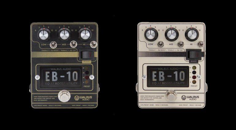 Walrus Audio EB-10 Booster Preamp Pedal Black Cream FX Effekt
