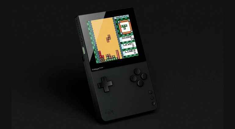 Analogue Pocket mit Tetris
