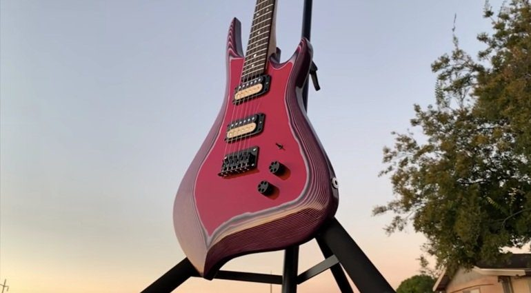 Burls Art Papercaster E-Gitarre Papier 1