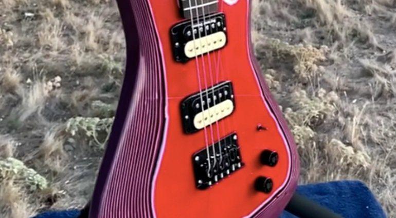 Burls Art Papercaster E-Gitarre Papier 2
