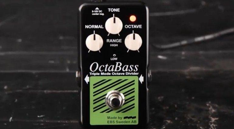 EBS OctaBass Blue Label Effekt Pedal Front