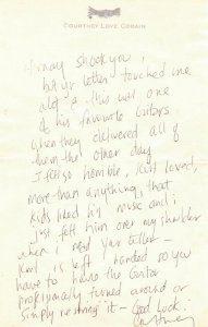 Kurt Cobain Fender Mustang Skystang III Brief Courtney Love