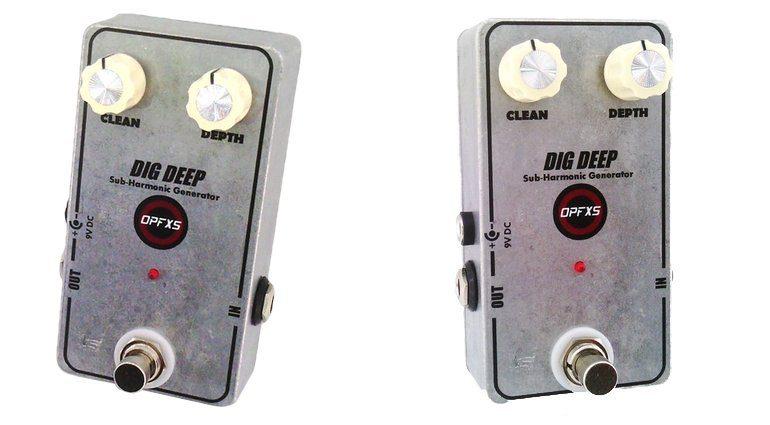 OPFXS Dig Deep Oktaver Effekt Pedal Front L R