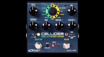 Source Audio Collider Delay Reverb Effekt Pedal Front