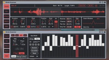 Amazing Noises Grain Scanner: zehnstimmiger Granular Synthesizer für Max for Live