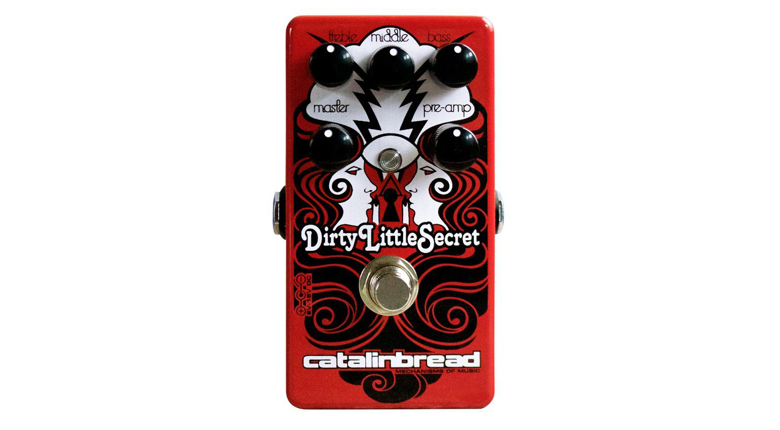 Catalinbread Dirty Little Secret Red Mod Effekt Pedal Front