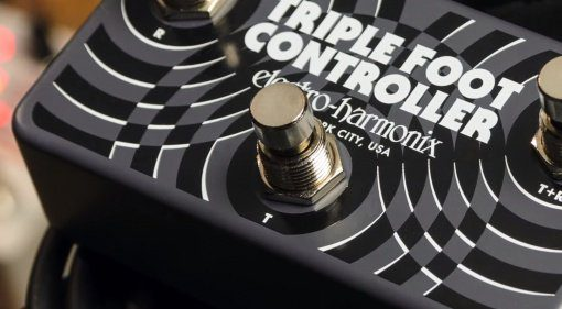 EHX Triple Foot Controller Pedal Front