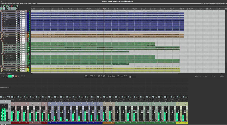Linux Ubuntu Studio 19 10 Reaper DAW Audio GUI