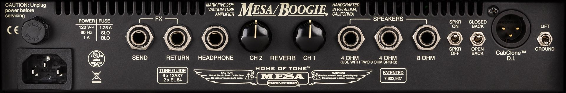Mesa Boogie Mark Five 25 1x10 Combo Rear Panel