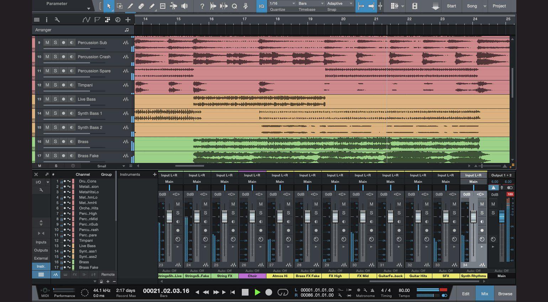 PreSonus Studio One mit Stems von Mix the Music