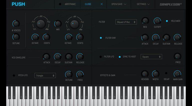 Sampleson verschenkt One-knob Push Synthesizer!