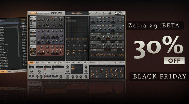 U-He Zebra 2.9 Synthesizer mit neue Funktionen und Black Friday Rabatt!