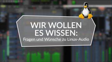 Wir wollen es wissen: Fragen und Wünsche zu Linux-Audio.
