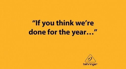 Für Behringer ist das Jahr noch nicht gelaufen!