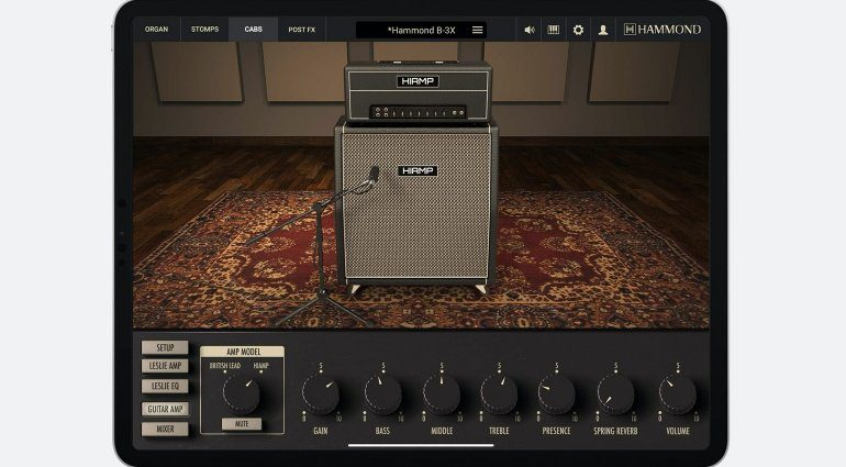 IK Multimedia portiert Hammond B-3X auf das iPad