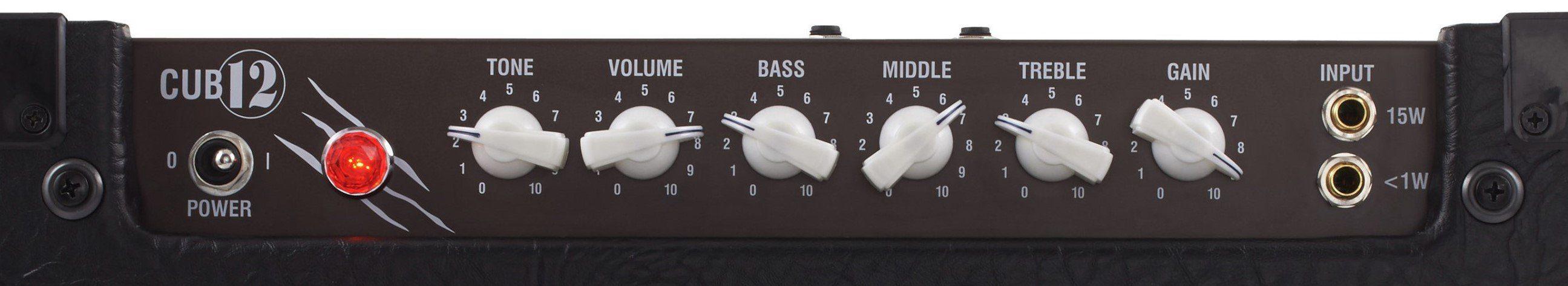 Laney-Cub12-Guitar-Amp-Top-Panel