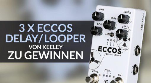 Gewinnspiel: 3 x Keeley ECCOS Delay Looper zu gewinnen!