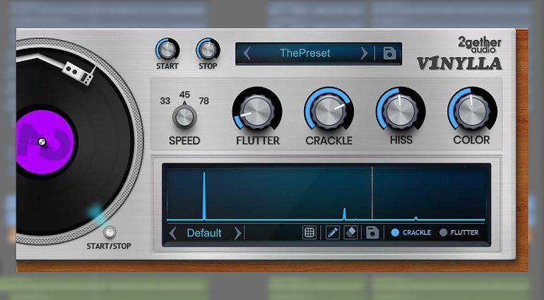 2getheraudio V1nylla: ein Vinyl Simulator mit Zeichenbrett