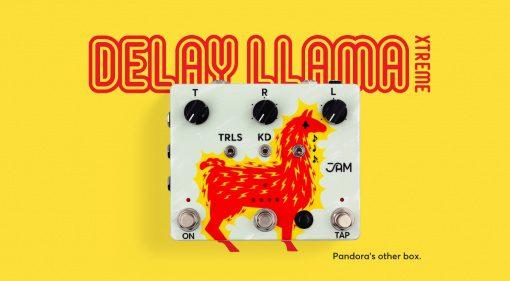 Delay Llama Xtreme Pedal Effekt Front