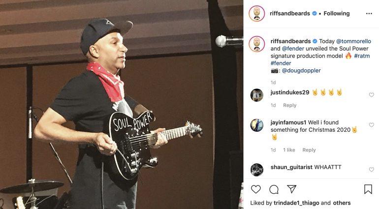 Fender Tom Morello Signature soul power stratocater