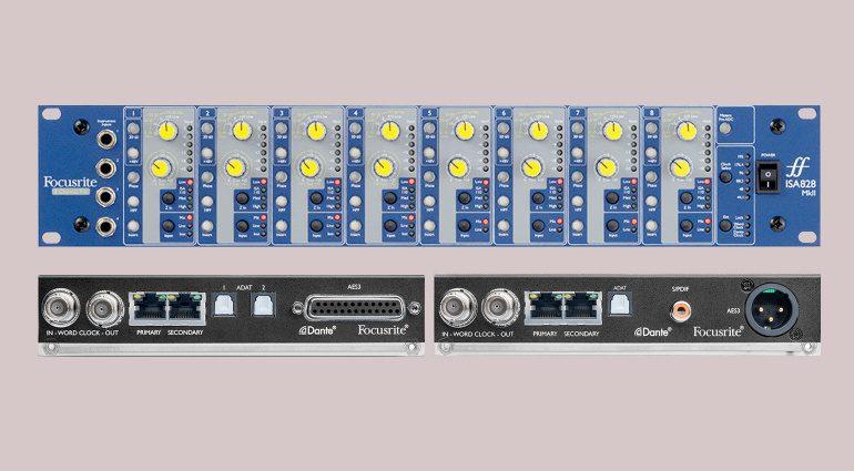 Focusrite stellt neue ISA 828 MkII, ISA ADN2 und ISA ADN8 Hardware vor