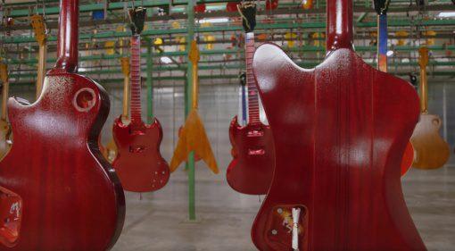 Gibson TV Fabrik Bilder Firebird Les Paul SG