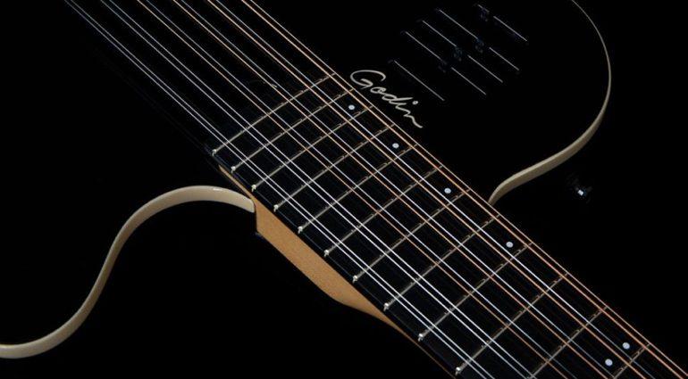 Godin A12 Black HG chambered 12-string Teaser