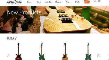 Harley Benton Homepage Screenshot